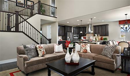 Great room in the Hastings floor plan