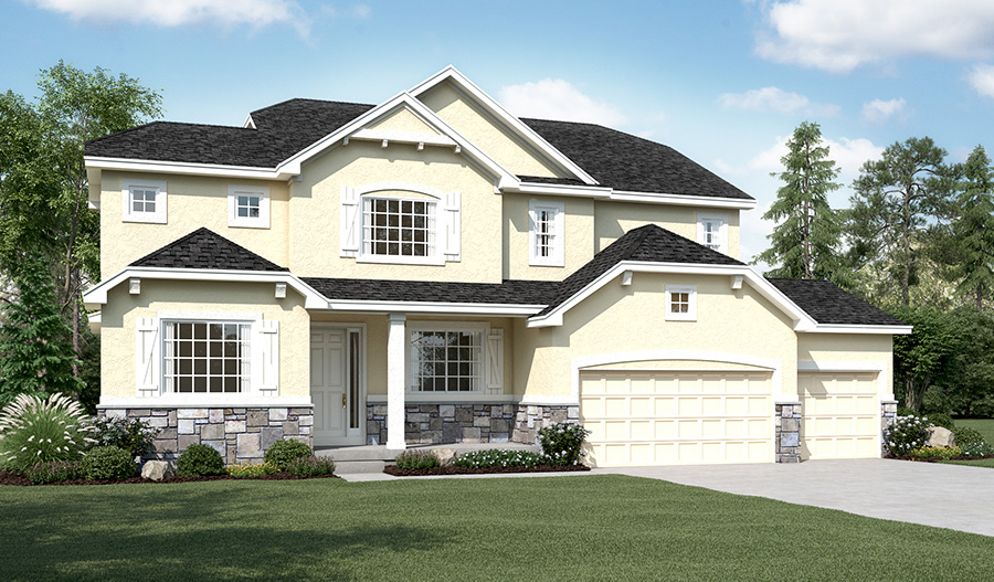 Exterior A of the Hastings floor plan in the Ironwood community