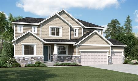 Exterior C of the Hastings floor plan in the Ironwood community