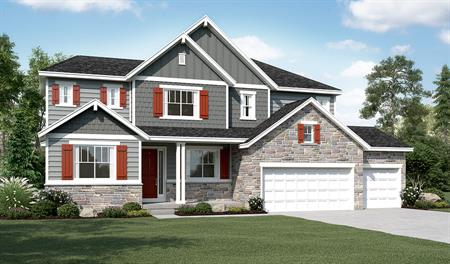 Exterior D of the Hastings floor plan in the Ironwood community