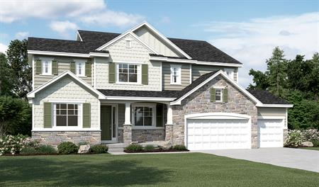 Exterior E of the Hastings floor plan in the Ironwood community