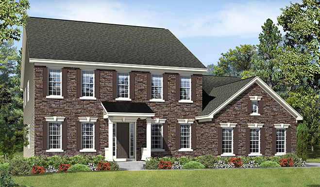 Hathaway floor plan at aldie estates richmond american homes for Modern homes northern virginia