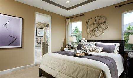 Master bedroom in the Hawthorne floor plan