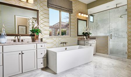 Master bath in the Heidi floor plan