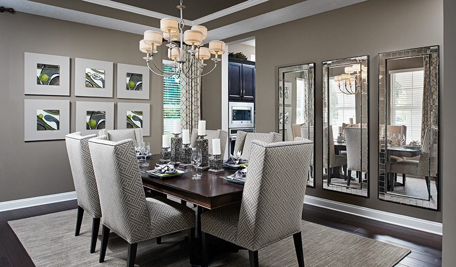 Dining room in the Heidi floor plan