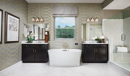 Master bathroom of the Heidi floor plan