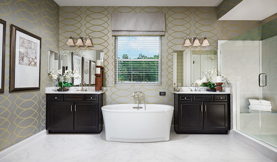Master bathroom of the Heidi floor plan