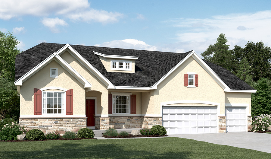 Exterior B of the Helena floor plan in the Ironwood community