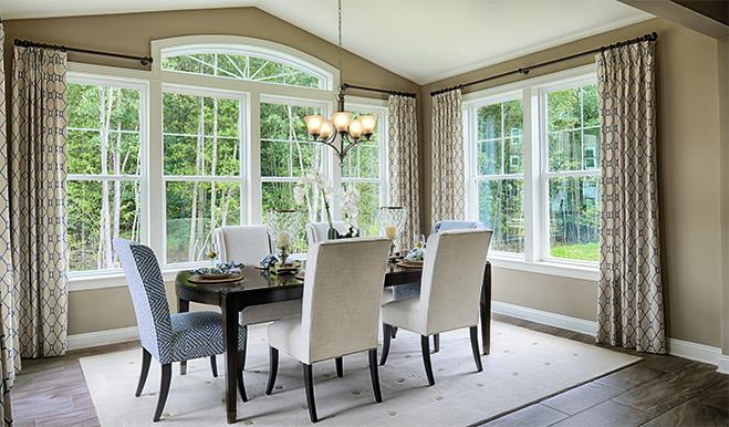 Dining room in the Hemingway floor plan