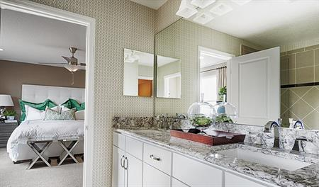 Master bathroom in the Hemingway floor plan