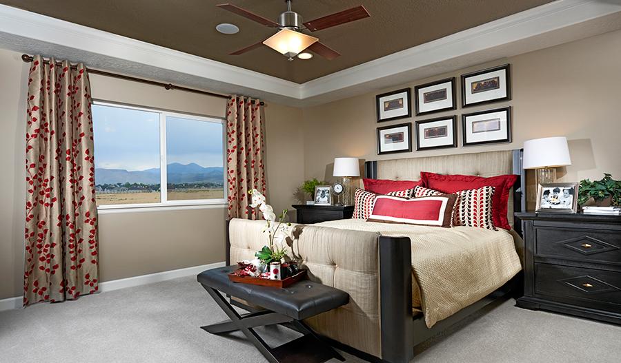 Master bedroom in the Hemingway floor plan