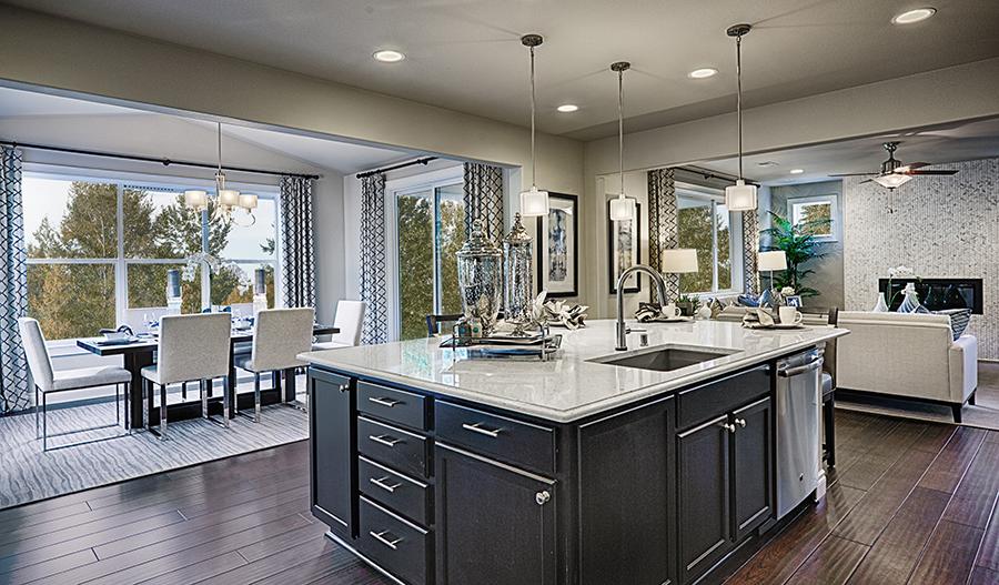 Kitchen and nook in the Hemingway floor plan