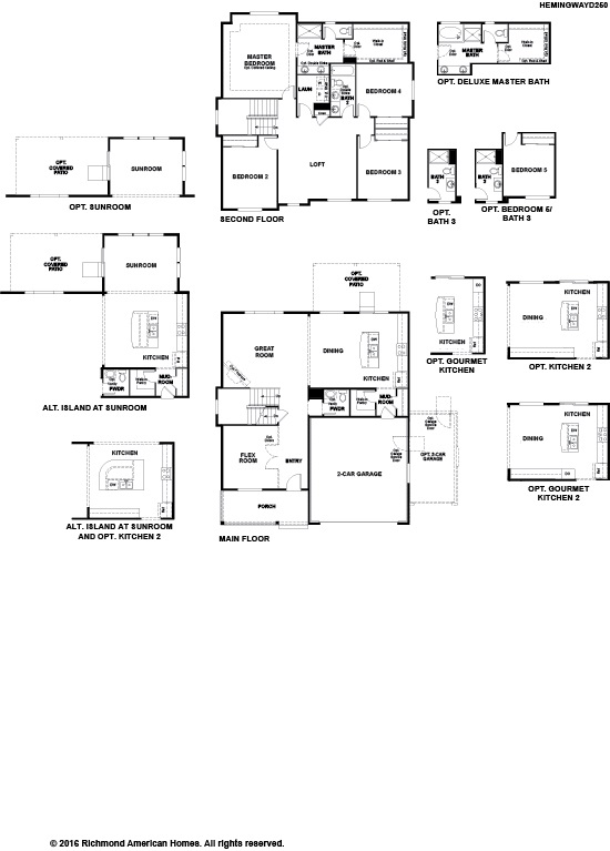 Hemingway ii floor plan at creekside at buckley ranch for American home builders floor plans