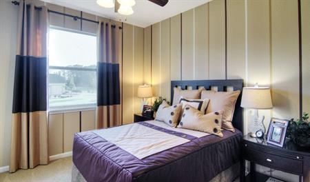 Bedroom in the Isaac floor plan