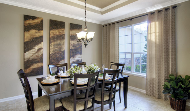 Dining room in the Isaac floor plan