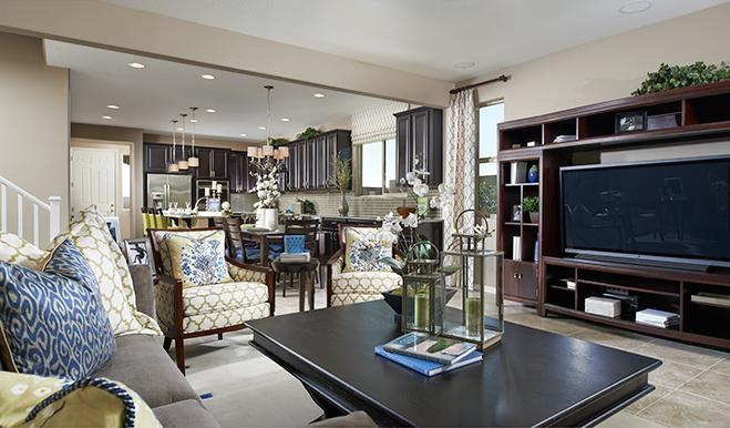 Great room of the Ivy floor plan
