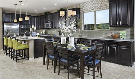 Kitchen and dining area of the Ivy floor plan