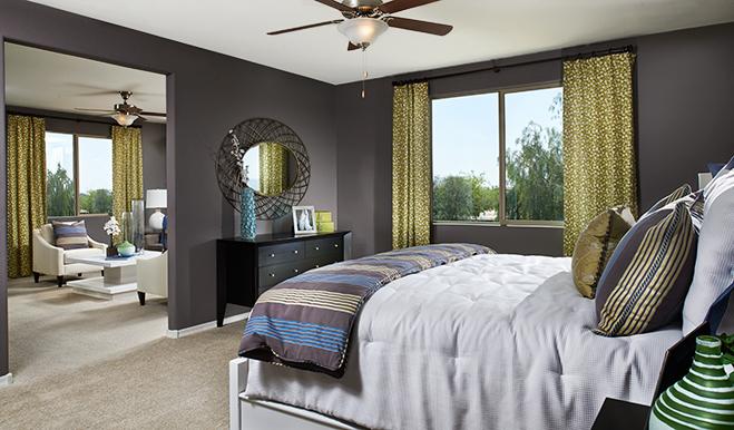 Master bedroom of the Ivy floor plan