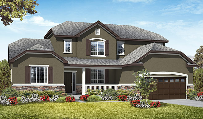 Exterior B of the Jessica floor plan in the Royal Farms community