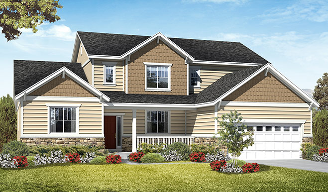 Exterior C of the Jessica floor plan in the Royal Farms community