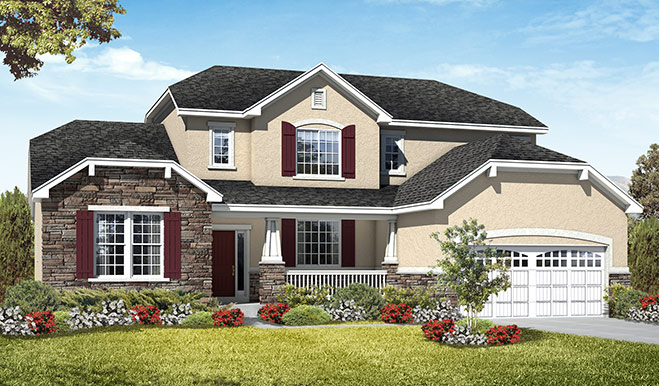 Exterior E of the Jessica floor plan in the Royal Farms community