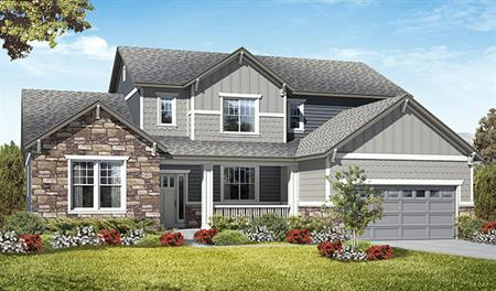 Exterior F of the Jessica floor plan in the Royal Farms community