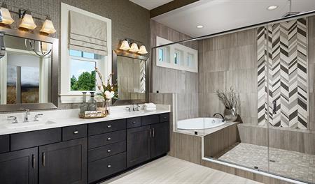 Master bathroom of the Jonathon floor plan