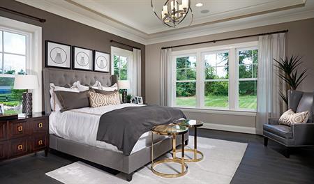 Master bedroom of the Jonathon floor plan