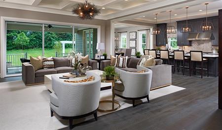 Great room in the Jonathon floor plan
