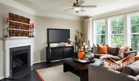 Family room of the Keagan floor plan