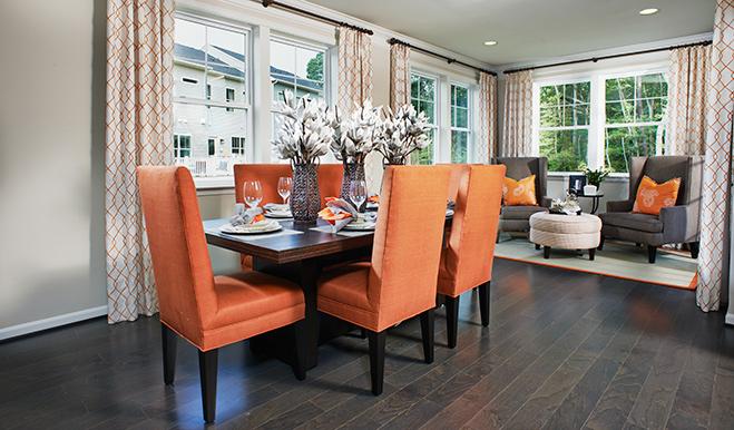 Dining room of the Keagan floor plan