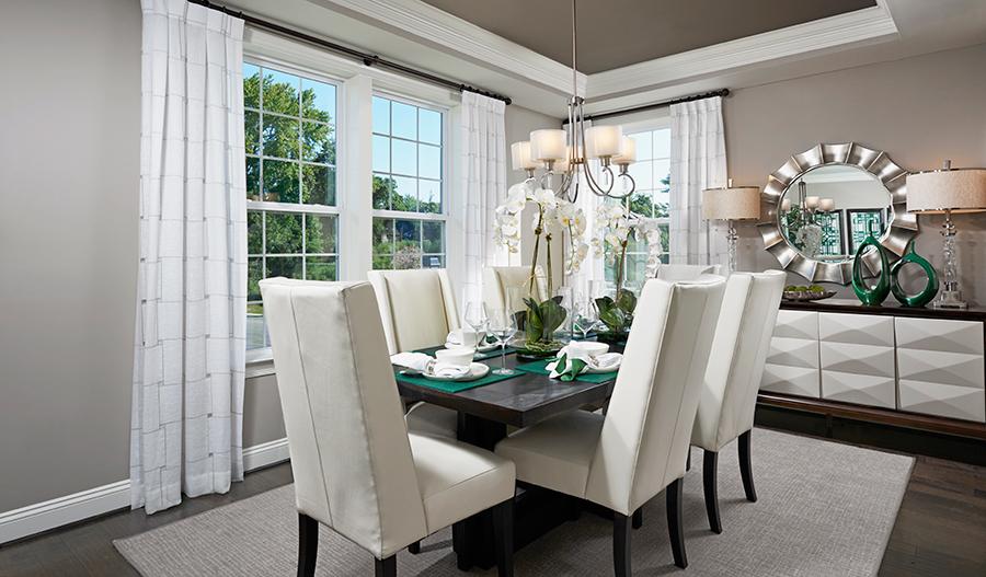 Dining room of the Kelsey floor plan