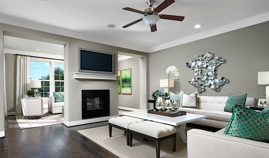 Living room of the Kelsey floor plan