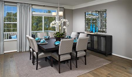 Dining room in the Kenrick floor plan