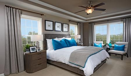 Master bedroom of the Kenrick floor plan