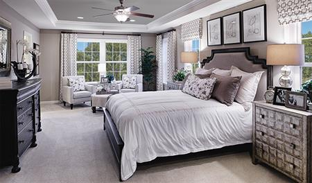 Master bedroom of the Kevin floor plan