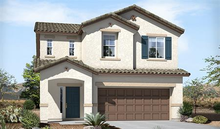 Exterior A of the Lawson floor plan in the Skyline Ridge community