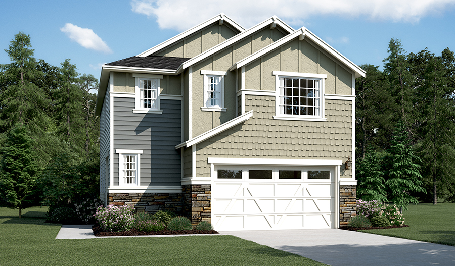 Layne floor plan at the village at university place for American home builders washington