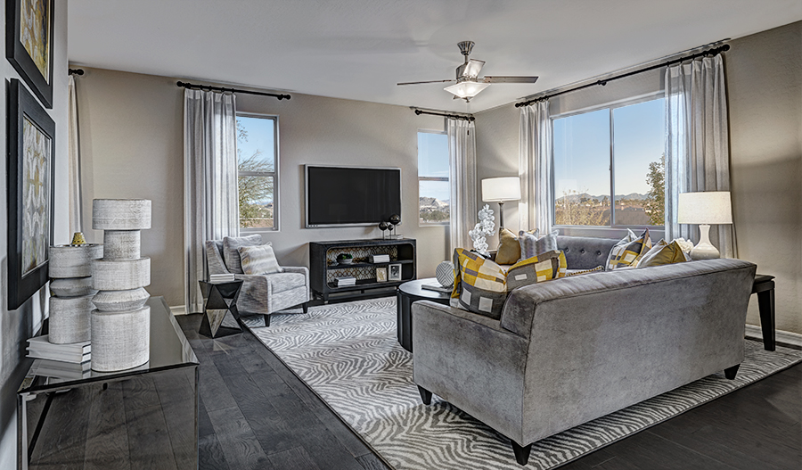 Family room in the Lillian floor plan