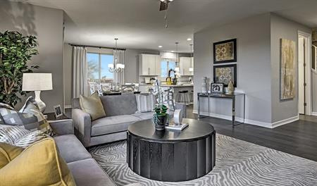 Great room in the Lillian floor plan