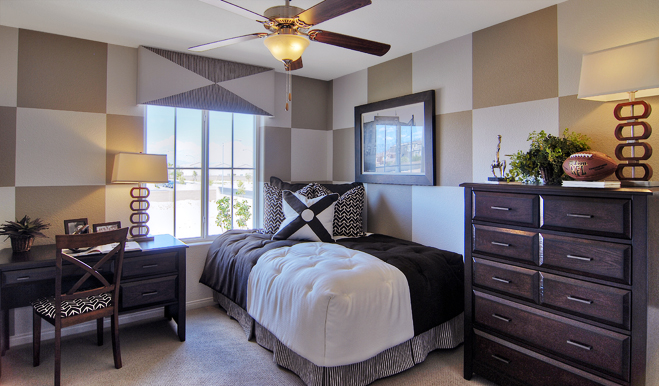 Bedroom in the Lindsay floor plan