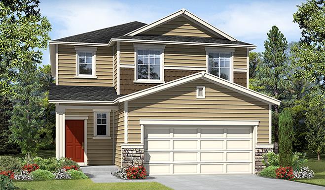3 bedroom 2 5 bathroom 2 car garage floor plans in lake for American home builders washington