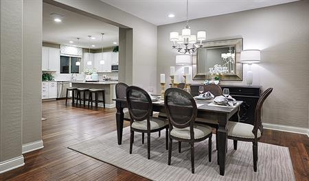 Dining room in the Madison floor plan