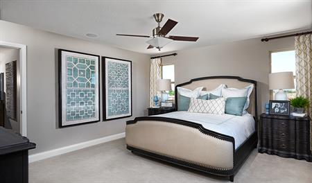 Master bedroom in the Madison floor plan
