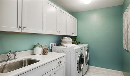 Laundry room in the Madison floor plan