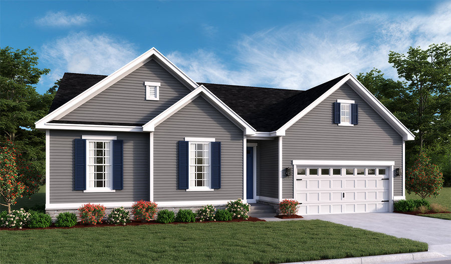 New home exterior A of Decker floor plan