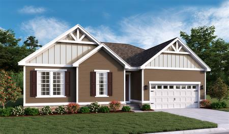New home exterior B of Decker floor plan