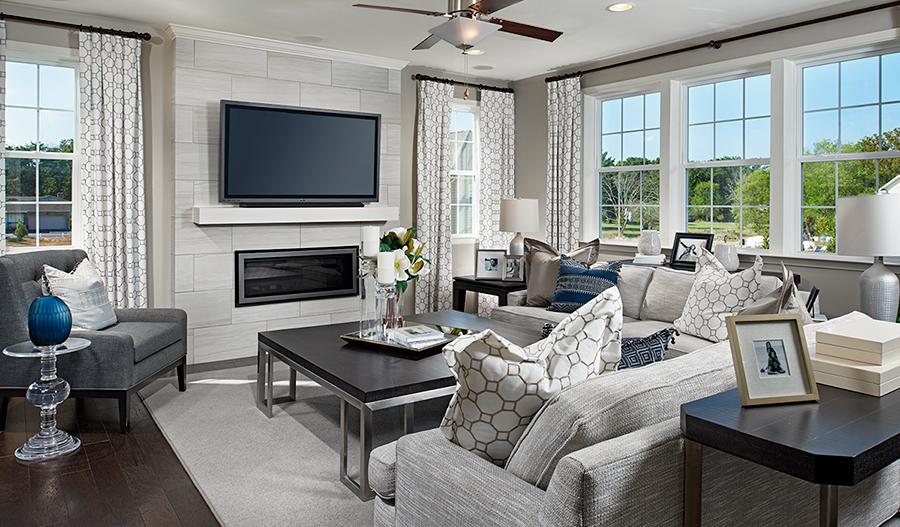 Great room in the Hemingway floor plan