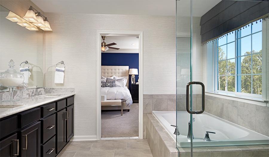 Master bathroom in the Hemingway floor plan