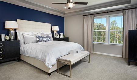 Master bedroom in the Hemingway floor plan